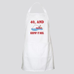 40 And Keepin' It Reel Apron