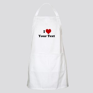 Customized I Love Heart Apron