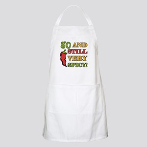 Spicy At 80 Years Old Apron