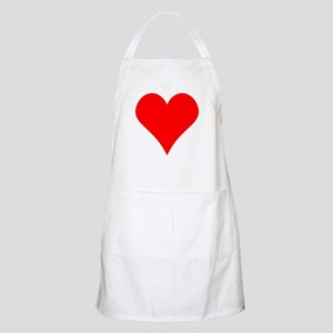 Simple Red Heart Apron