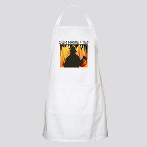 Custom Silhouetted Firefighter Apron