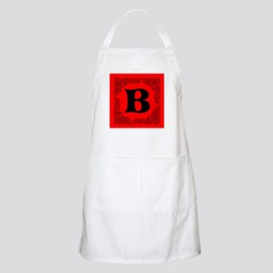 Red Personalized Monogram Initial Apron