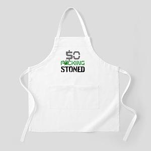 $O F*CKING STONED. Apron