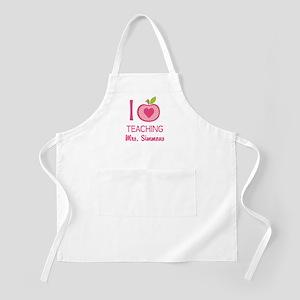 I Love Teaching personalized apple Apron