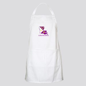 LOUISIANA PURPLE AND GOLD Apron
