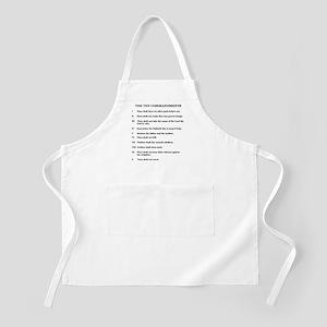 Ten Commandments [text] BBQ Apron