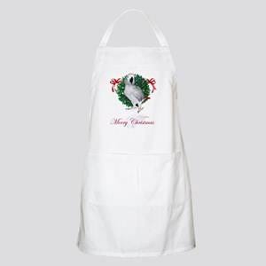 african grey christmas BBQ Apron