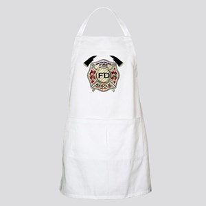 Maltese Cross with American Flag background Apron