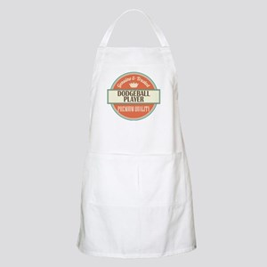 dodgeball player vintage logo Apron