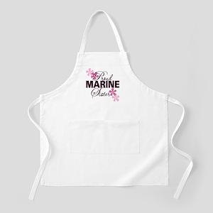 Proud Marine Sister BBQ Apron