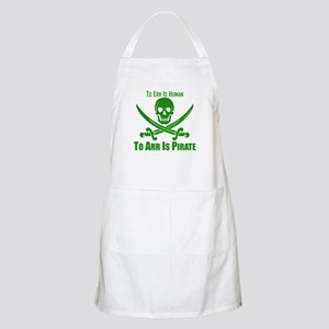 To Arr Is Pirate Green Apron