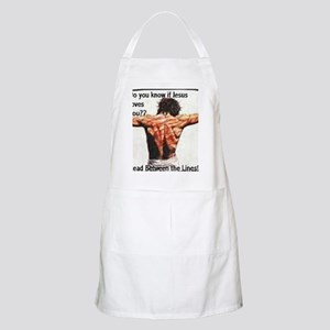Do you know if Jesus loves you? Christian Apron