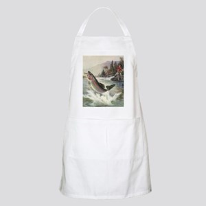 Vintage Fishing, Rainbow Trout Apron