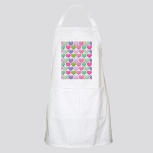 Gingham Hearts Pastel Pattern Apron