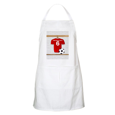 Red Customizable Soccer footb Apron