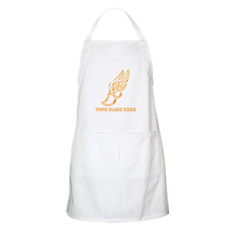 Custom Orange Running Shoe With Wings Apron