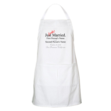 Finally Married Apron