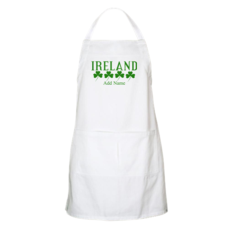 Lucky Irish Shamrocks Apron