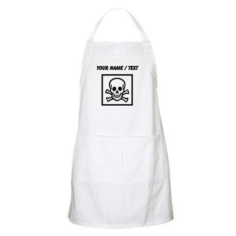 Custom Skull And Crossbones Square Apron