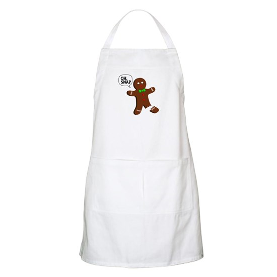 Oh Snap Gingerbread Man Apron By Carolinaswagger Cafepress