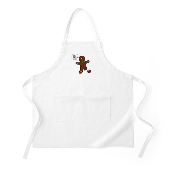 Oh Snap Gingerbread Man Apron By Carolinaswagger Cafepress