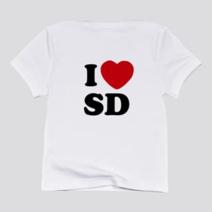 Two Sided I Heart SD Infant T-Shirt Heart on Chest