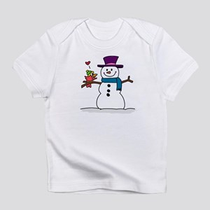 Snowman bird love christmas Infant T-Shirt
