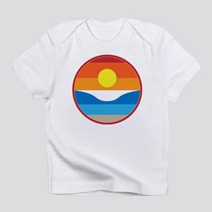 Horizon Sunset Illustration with Cr Infant T-Shirt