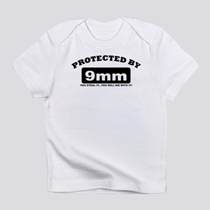 property of protected by 9mm b Infant T-Shirt