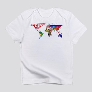 World Map With Flags Infant T-Shirt
