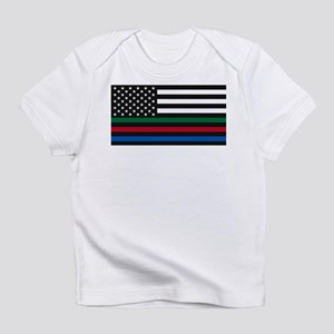 Thin Blue Line Decal - USA Flag - Red, Blu T-Shirt