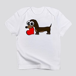Cute Dachshund with Heart Infant T-Shirt