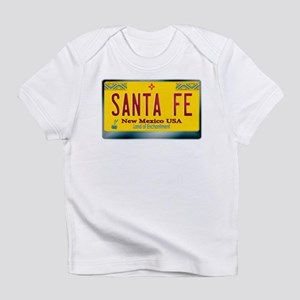 """SANTA FE"" New Mexico License Plate Infant T-Shirt"
