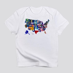 USA State Flags Map Infant T-Shirt