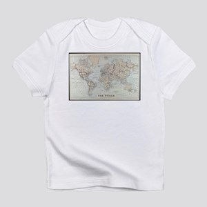 Vintage Map of The World (1875) Infant T-Shirt