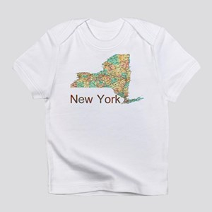 Map of New York State 2 Infant T-Shirt