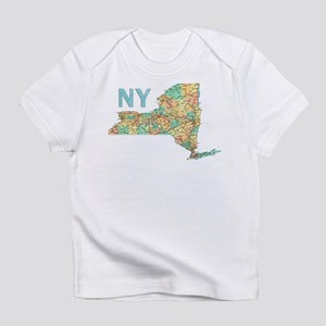 Map of New York State 6 Infant T-Shirt