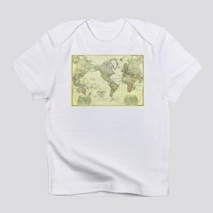 Vintage Map of The World (1922) 2 Infant T-Shirt