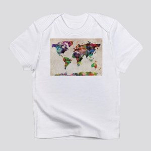 World Map Urban Watercolor 14x10 T-Shirt