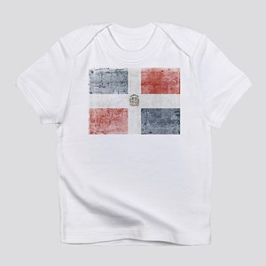 Dominican Republic Distressed Flag Infant T-Shirt
