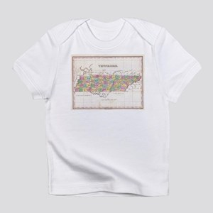 Vintage Map of Tennessee (1827) Infant T-Shirt