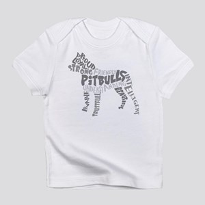 Pit Bull Word Art Greyscale Infant T-Shirt