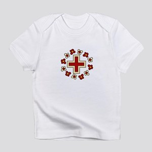 Floral Red Cross Infant T-Shirt