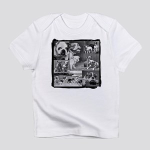 Vintage Bulldog Collage Creeper Infant T-Shirt