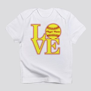 Personalized Love Softball Infant T-Shirt