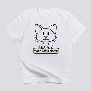 Personalized White Cat Infant T-Shirt