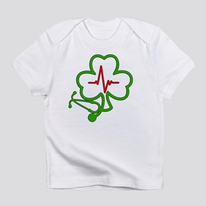 Shamrock Stethoscope Heartbeat Infant T-Shirt