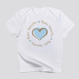 Mom's Favorite Boy Heart Infant T-Shirt