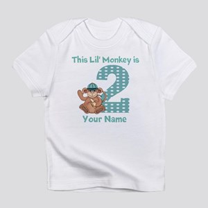 2nd Birthday Monkey Infant T-Shirt