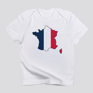 Flag Map of France Infant T-Shirt